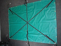 Vinyl containment tarp